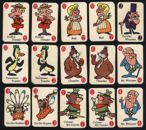 cryptofwrestling:  Dudley Do-Right / Tennessee Tuxedo Cards- General Mills premium (1965)