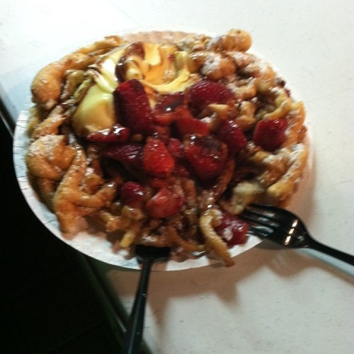 No fair is complete without funnel cake! (Taken with Instagram)