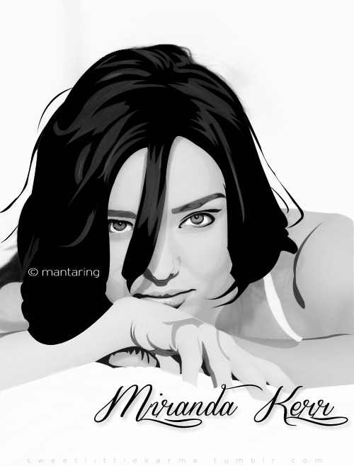 first vector(?) na natapos ko,finally! hahahahaha :)) Miranda Kerr, ultimate girl crush.