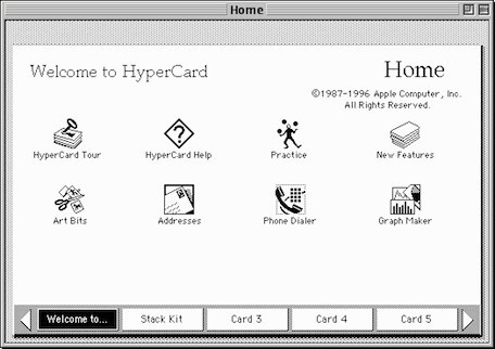 Apple's original software construction kit: HyperCard turns twenty-five years old today Kelly Guimont, tuaw.com Twenty-five years ago today, Hyper­Card was released at Mac­world Expo Boston. Apple's soft­ware con­struc­tion kit for the rest of us began ship­ping on every new Mac as of August 11, 1987; you could also buy it for $49. It required 1 MB of mem­o…