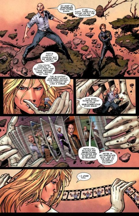 masquerade68:  OMG, I just stumbled across this. Emma Frost is exceedingly cool! Apparently it's in X Men Legacy 216. I must investigate.