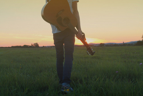 Boy Guitar Tumblr Guitar Sun Sunset Boy