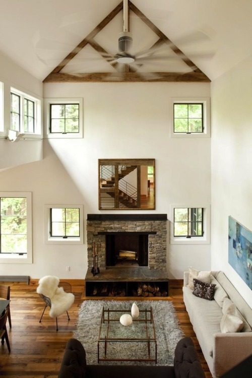 justthedesign:  justthedesign: Living Room Lakefront Barn Living