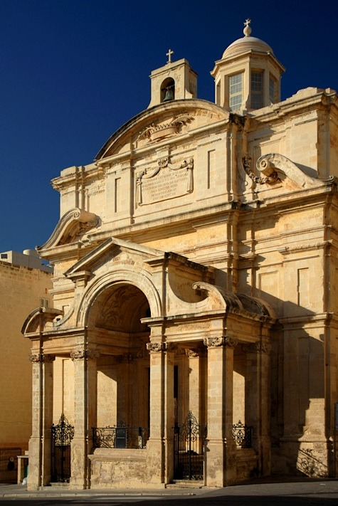 | ♕ |  Baroque church in Valletta, Malta  | by © Darrell Godliman  via ysvoice : dreamsandnightscapes : mxm : evysinspirations