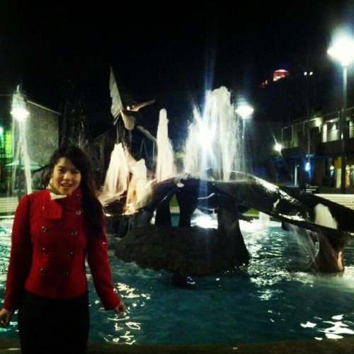 Lots of fountains in Hobart!!!  (Taken with Instagram at Salamanca Square)