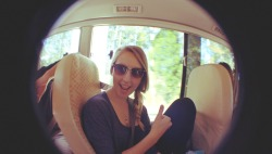 Photo of myself. Love fish-eye photos way too much! ©Emily Dafter