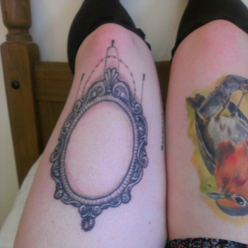 All healed and ready for my machine to go in :) #tattoo #frame #robin #cheersboss! @artandsoulmatt  (Taken with Instagram)
