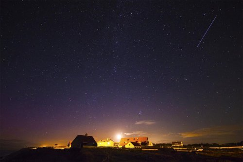 After many failed attempts I finally caught a meteor during the Perseid meteor shower.http://best-of-imgur.tumblr.com