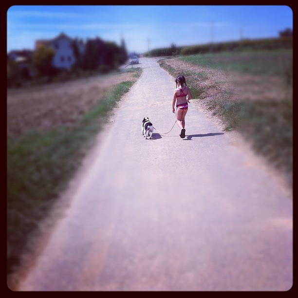 A girl & her dog :) (Taken with Instagram)