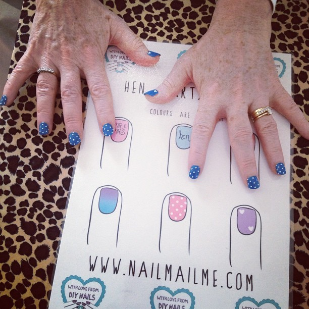 Mother of the bride's hen party nails 💜 (Taken with Instagram)