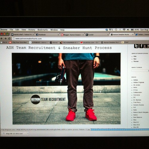 New post in the blog! Sneaker hunt process. www.astronsneakerhunts.com (Taken with Instagram)