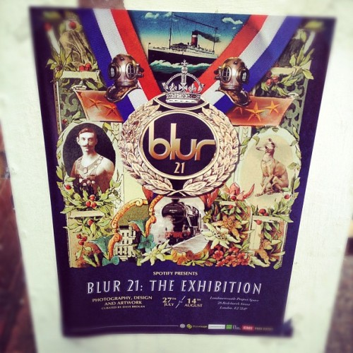 Blur 21 #exhibition #getinthemood #blur #poster #randomtypography  (Taken with Instagram at London Newcastle)