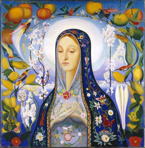 Orphaned work Joseph Stella (American, born Italy, 1877-1946). The Virgin, 1926. Oil on canvas, 39 11/16 x 38 3/4 in. (100.8 x 98.4 cm). Brooklyn Museum