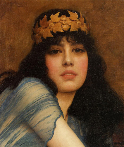veritas925:  Head of a Girl - John William Godward