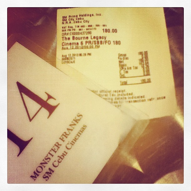 A date with myself. #bournelegacy # movie (Taken with Instagram)