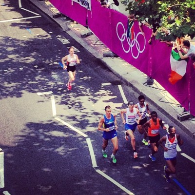 Cheering for #CANADA - #mens #marathon #race today @London2012 !  One of the greatest and fastest #races I have EVER witnessed! #giveyoureverything @R4L #runforlife #run4London!!!! #proudtobeCanadian xxx  (Taken with Instagram at London 2012 Olympic Marathon)