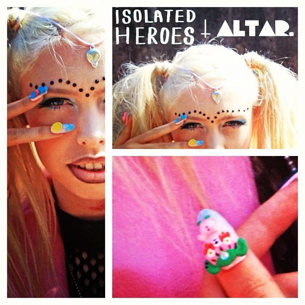 DIY Nails for the @isolatedheroes x @altarjewellery collab (Taken with Instagram)