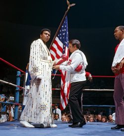 The Greatest enters the ring