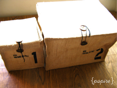 Coffee Sack Zakka Organizer Box  Designs: No.1 | No.2  No.1 Dimension: 15(L)*14(W)*14(H) cm No.2 Dimension: 26(L)*21(W)*19(H) cm Waterproof lining on the inside Silkscreen printing on the front Organize in style with these rustic zakka organizer boxes Comes with handles on the sides and string closure for the cover. Great quality. Total of 4 sizes available  No.1: SGD$9.00 each No.2: SGD$12.00 each  Details: