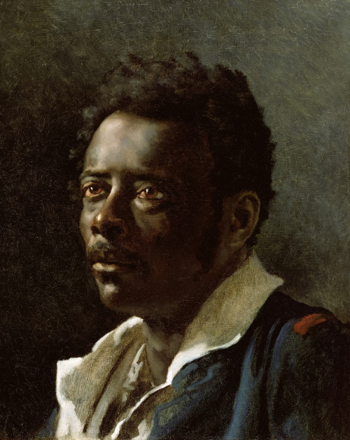 faux-fuyants:  artpedia:  Théodore Géricault - Portrait Study, 1818-19. Oil on canvas