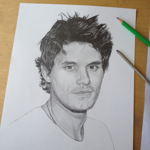 Working on my drawing of John Mayer. Incredibly talented musician!