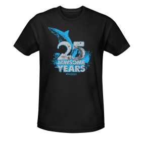 SHARK WEEK SALES! (via Shark Week 25 Jawsome Years T-shirt - Black | Shows | Shark Week | Discovery Channel - View All)
