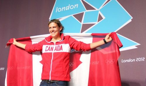 "christine sinclair is canada's closing ceremony flag bearer!  ""This is the greatest honour I've ever had in my athletic career ."" - Christine Sinclair  very well earned, cap!"