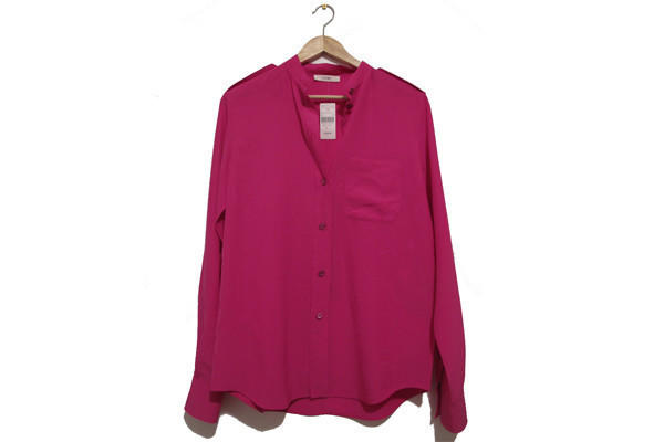 military shirt in hibiscus (fr sz 38) • célineUS $280.00
