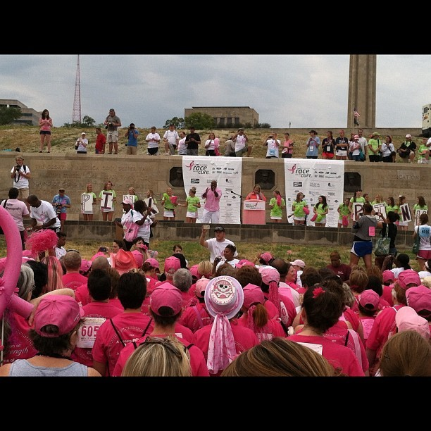 At the Survivor's photo. #komenkc #r4tckc  (Taken with Instagram)