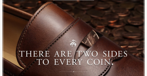 Preach it.  Penny loafers, Brooks Brothers.