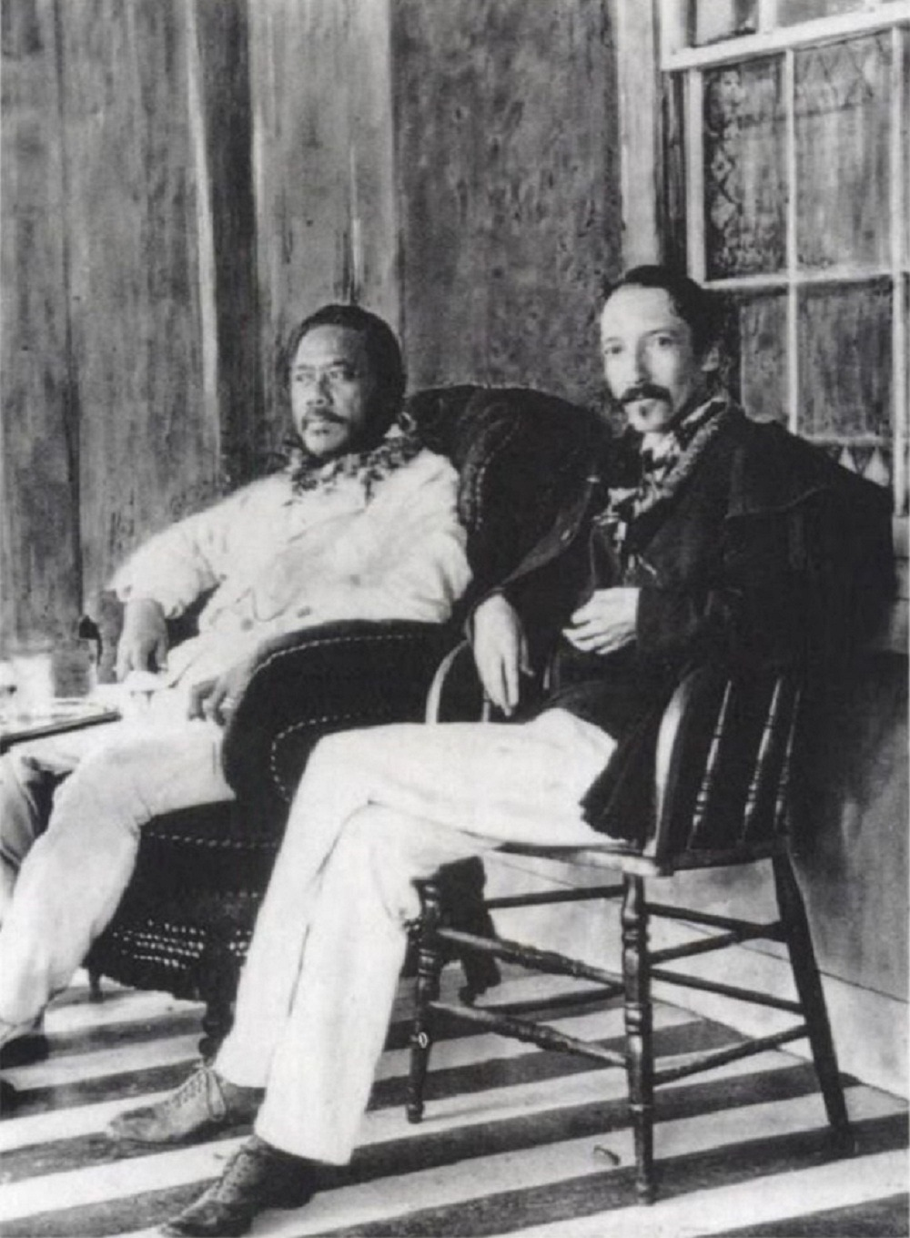 "King Kalakaua and Robert Louis Stevenson ""There are no foreign lands. It is the traveler only who is foreign."" ― Robert Louis Stevenson, The Silverado Squatters"