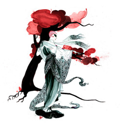 """FASHION TREE""  Beautiful Fashion Illustrations by Richard Merritt"