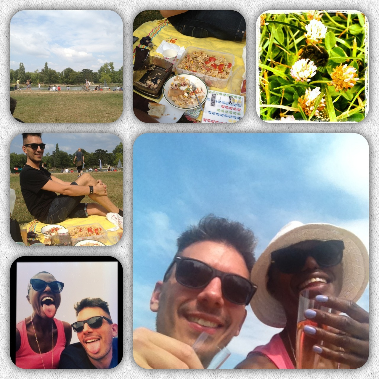 Sunny Sunday picnic around the Lac De Daumesnil