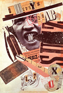 Raoul Hausmann, ABCD (Self- portrait), 1923-1924 Photomontage- using illustrations and advertisements cut out of popular magazines