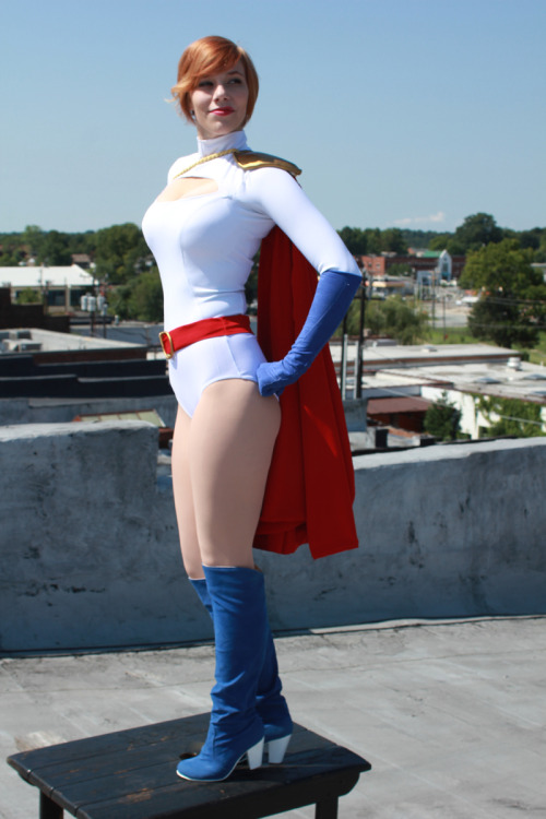 Power Girl is a redhead.