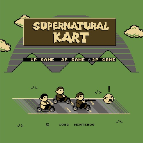 Supernatural Kart Design by Lee Byway up for voting at Qwertee! Redbubble || Facebook || Society6 byway: And you can still find my original Supernatural / Mario Bros. crossover design, 'Supernatural Bros.', on Qwertee here!