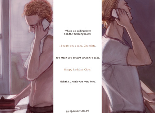 Though one day late, here's my little tribute to Chris and Hiddlesworth. :>