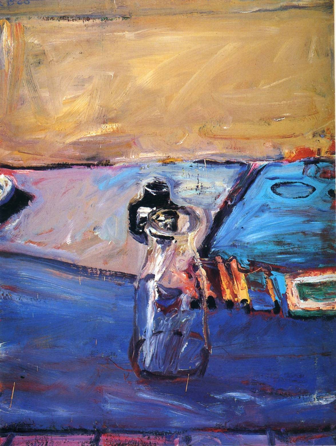 peira:  Richard Diebenkorn:  Bottles (1960) via Wikipaintings