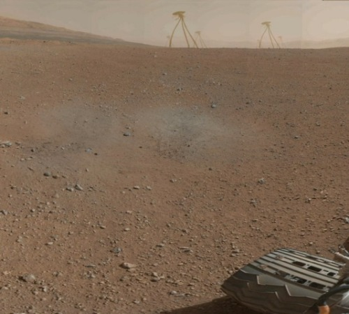 culturalgutter:  Martian war machines as photographed by the Curiosity Rover by the Nefarious Dr. O.  See more of his work: http://www.renderosity.com/mod/gallery/browse.php?user_id=482194.