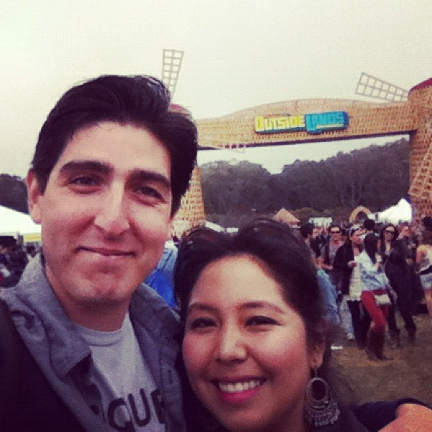 Me and Jess at OL (Taken with Instagram at Outside Lands Music Festival)