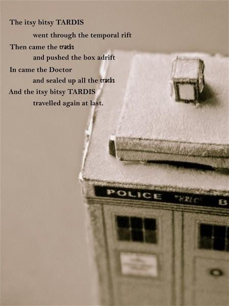 aslytherinsuperwholockian:  ashkmouse:  Doctor Who Nursery Rhyme   I swear I'm gathering all the rhymes, songs, and even that little Doctor Who prayer thingy, and when I have kids I'm going to teach them these.