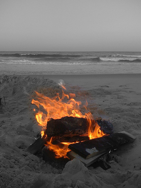 Fire inside of you  elorablue:  Island Beach Bonfire by ccuento on Flickr.