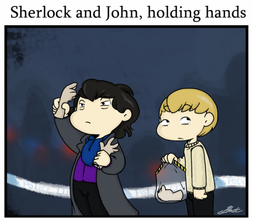 homeiswheretheheartsare:  Holding hands - 30 day OTP challenge day 1 (The only one I plan to do at this point in time)  That cracked me up like nobody's business.