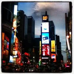 #timessquare #nyc #newyorkcity #newyork #lights #city #broadway  (Taken with Instagram)