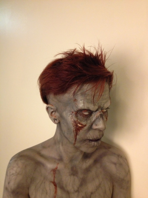 gorycori:  Zombie prosthetic from last week.  MUA/model:  Self, Corinne Erickson