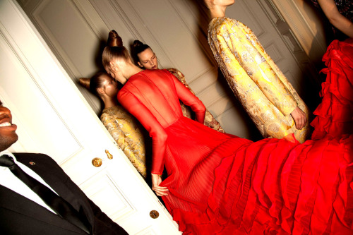 Backstage @ Valentino Haute Couture - Fall/Winter 2012