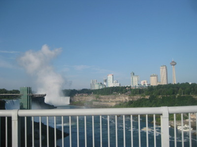 On Rainbow Bridge.  Niagara Falls, ON