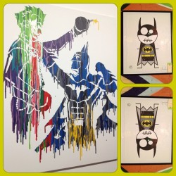 @sir_wonki pointed out this Batman piece last night. one of the best ones I've seen thus far 👌💜💛 #batman #painting #art #artwalk #wynwood #artdistrict #miami #midtown #thejoker #joker #hero #villain  (Taken with Instagram)