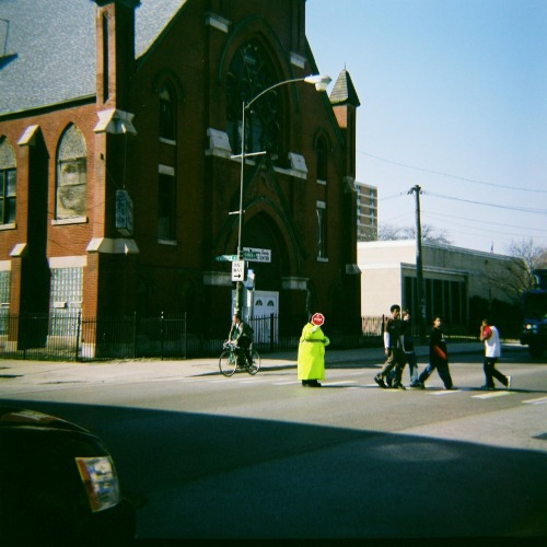 The Crossing GuardChicago, IL (taken with Diana F+, 2009)