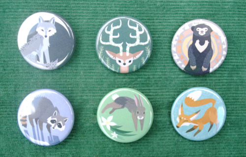 New Woodland Animal Button Set